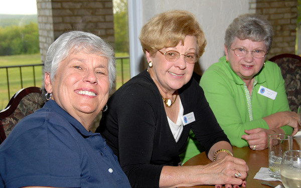 Hard Working Terre Du Lac Committee members - Mary Lee Weible, Phyllis and Lucy have promised NO RAIN!