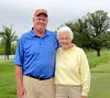 Head Professional, Mike Wensing with MWGA President Jayne Watson.