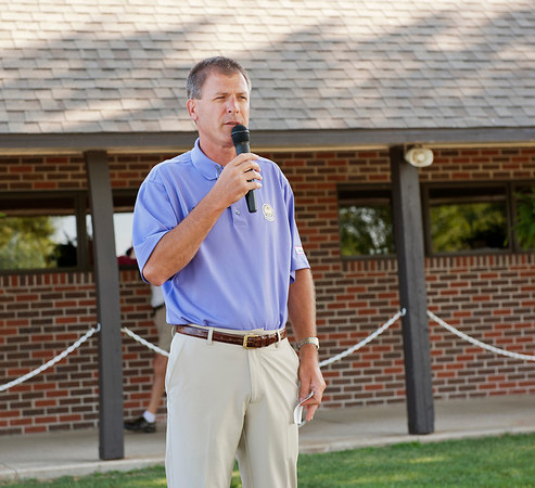 Twin Hills Golf and Country Club Head Golf Professional Doug Adams welcomes the competitors to Twin Hills and gives hole directions