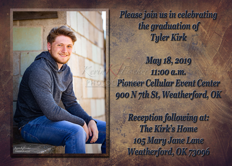 Tyler Kirk~Grad Announcement Side 1