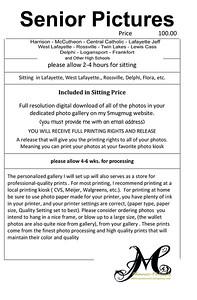 Pricing Senior Pictures