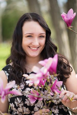 Senior photos and magnolias