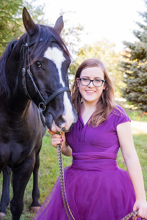 High School Senior and Horse