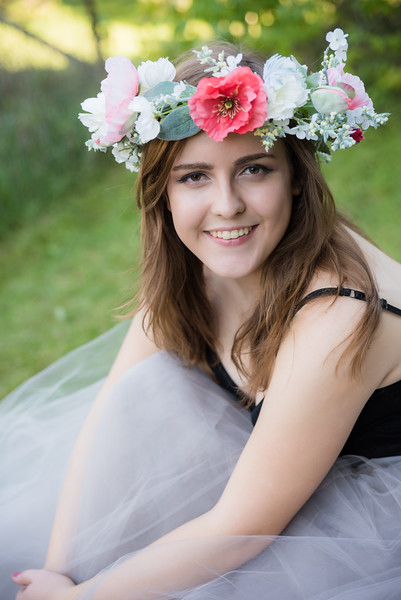 Clarkston Senior Tulle and Flower Crown