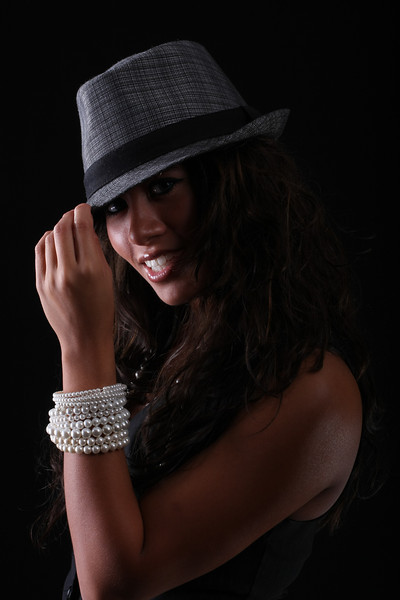 Grey Hat on Black