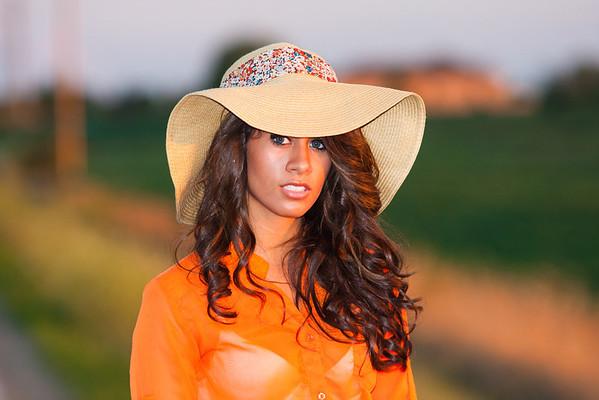 Orange Top with Hat