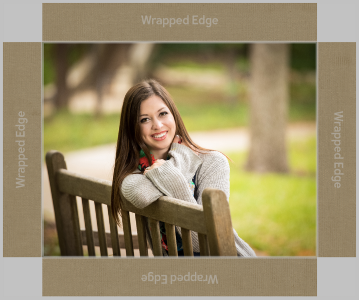Gallery wrap preview with border
