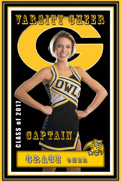 Garland cheer banner - Rosewood