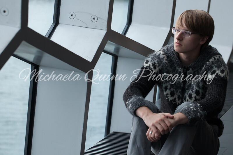 Evan Begg at the Harpa Concert Hall in Reykjavik, Iceland