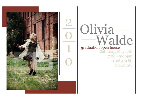 Olivia card front