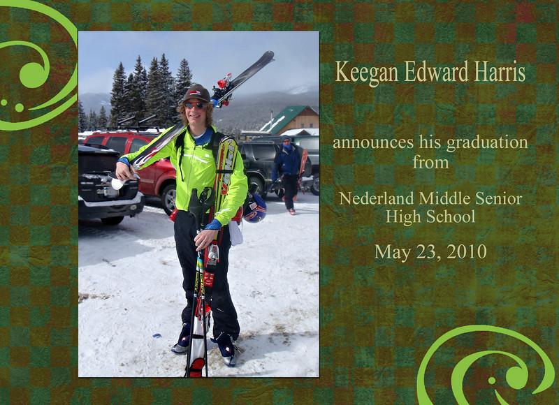 Skier card back