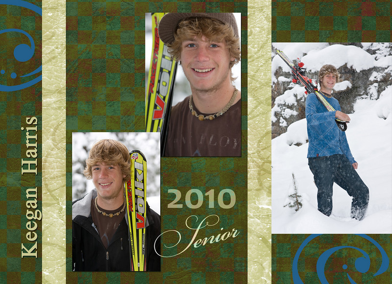 Skier card front