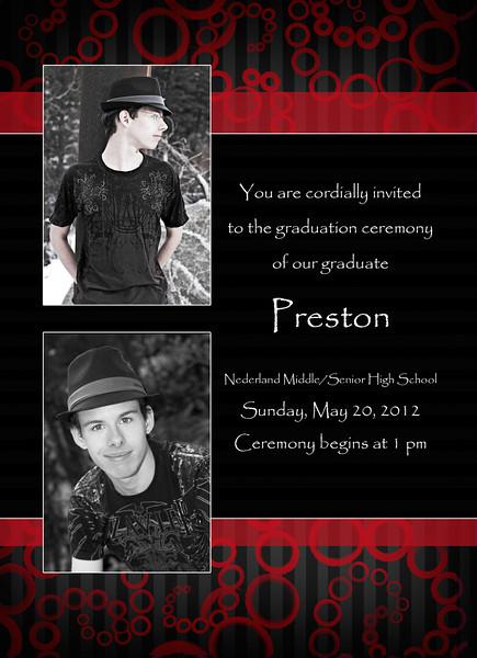 Preston card back