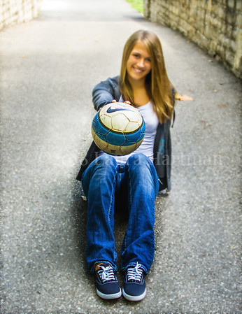 Photographer Favorite - I love the denim and the ball in focus. _LH
