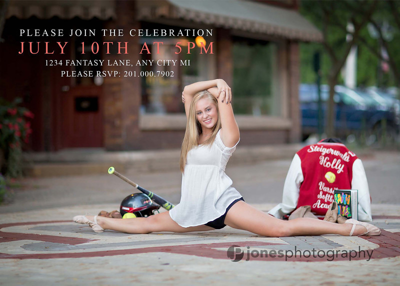 senior invitations cjonesphotos