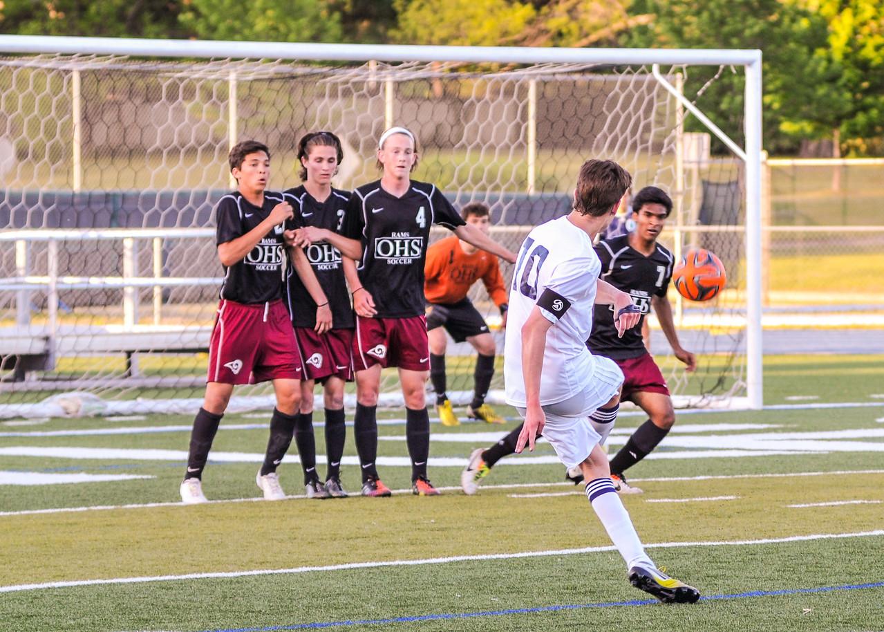 Troy attempting a penalty kick