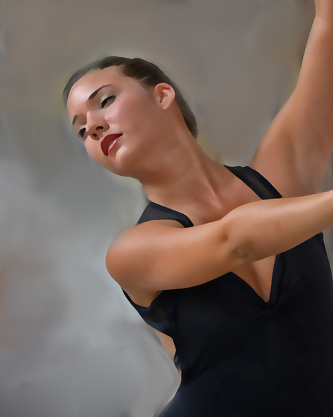 I used effects to blur out the details and give this dancer a dreamy quality.