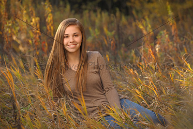 Photographed at dusk in fall right in our parklike setting for this Hartland Senior. No need to travel to a park to capture wonderful portraits like this