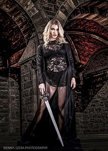 Warrior Princess in Black
