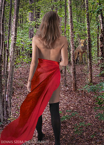 Riding Hood meets the Wolf.
