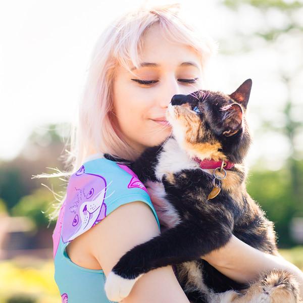 Senior with Cat