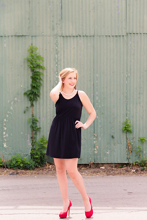 Senior in Black Dress