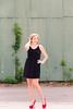 Senior in Black Dress