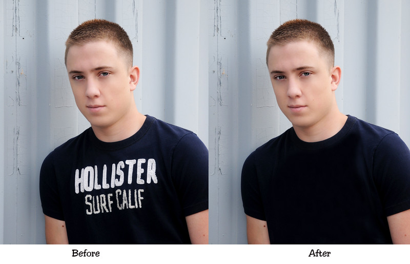 Senior combo before n After Blue