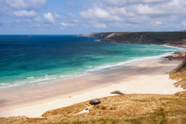 Sennen beach view