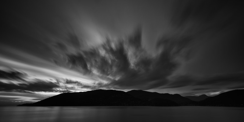 Swift Clouds Over Bowen Island
