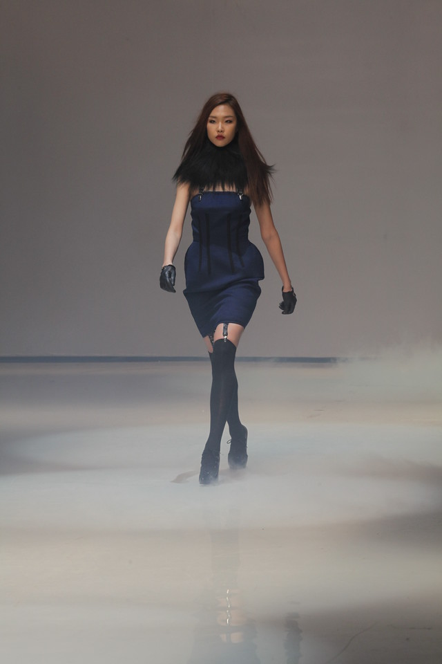 Resurrection at Seoul Fashion Week 2014 with Miss J from America's Next Top Model in attendance.