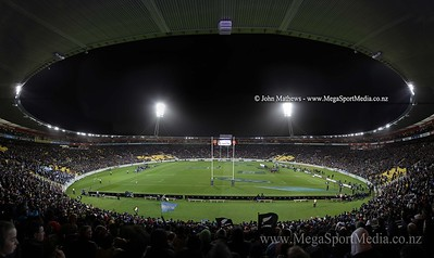 Image of Westpac Stadium, Wellington, New Zealand taken during the test between the New Zealand All Blacks and the Argentina Pumas on 9 September 2012.