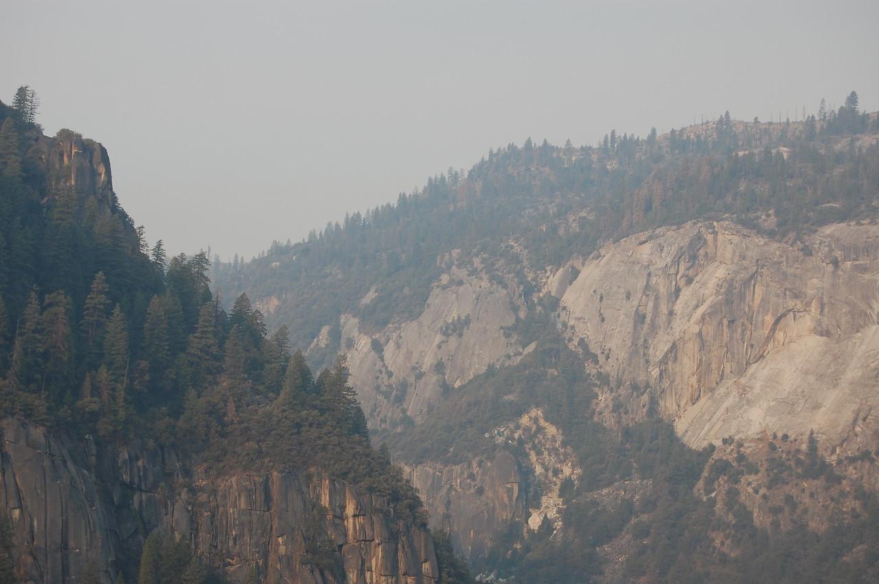 "Yosemite National Park, CA.  I choose to pronounce it ""Yo, Semite!"", said as if I was hailing a Jewish person."
