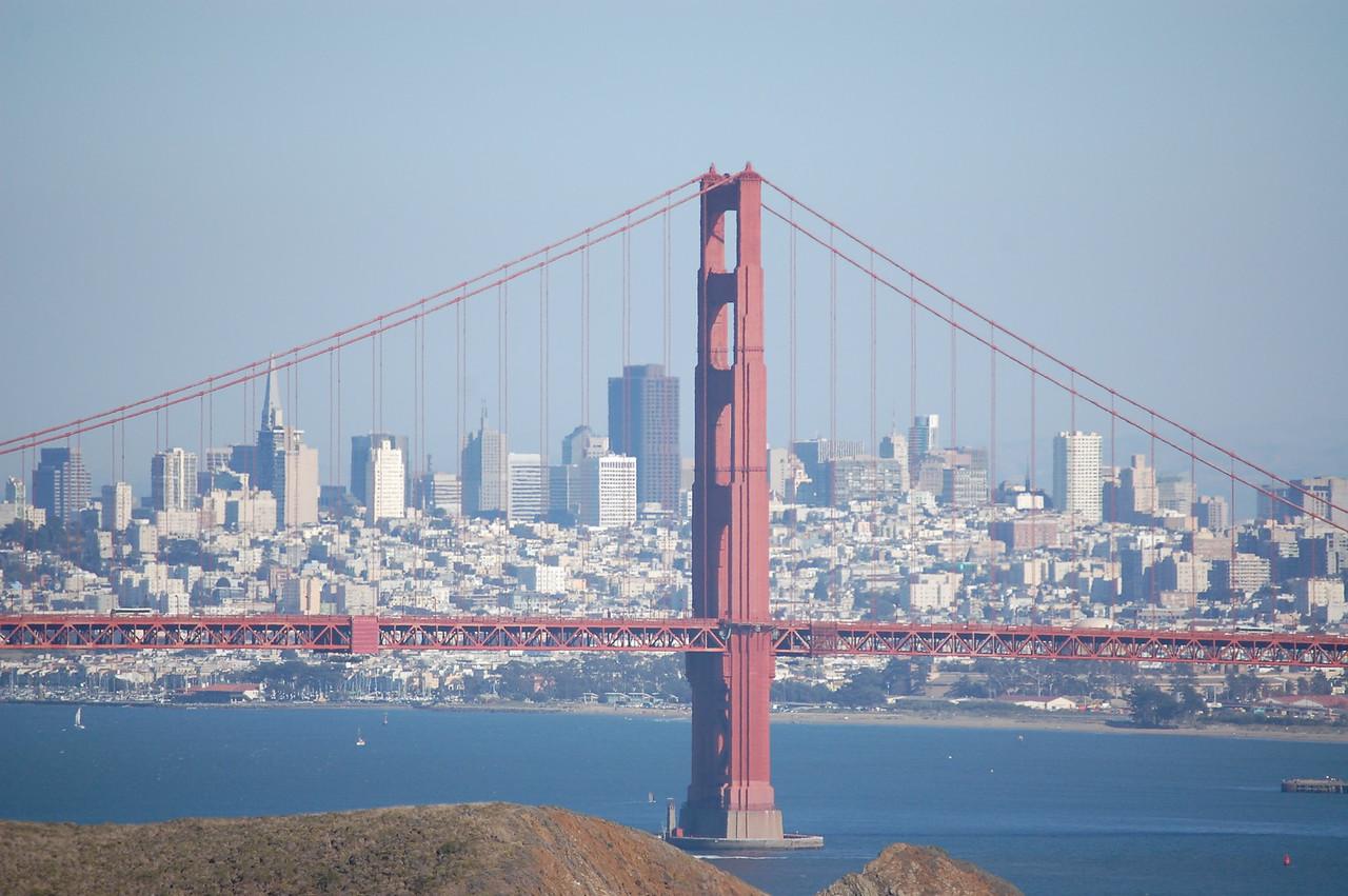 San Francisco, CA and the Golden Gate Bridge.