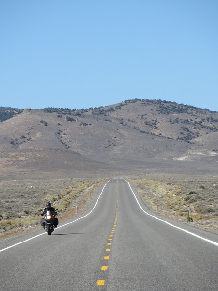 "Tim on US 50 in Nevada, the ""Loneliest Road in America"""