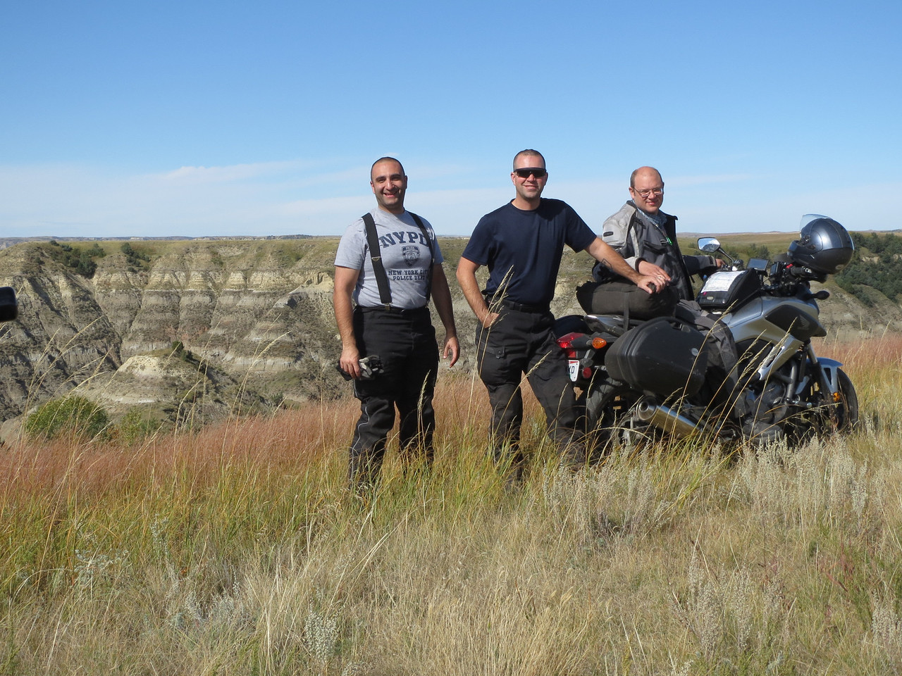 Me, Brandon, Tim; in an unnamed canyon in ND.