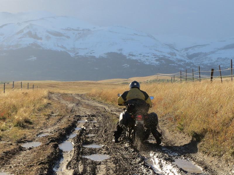 Pretty place to get stuck.  Near Glacier, MT