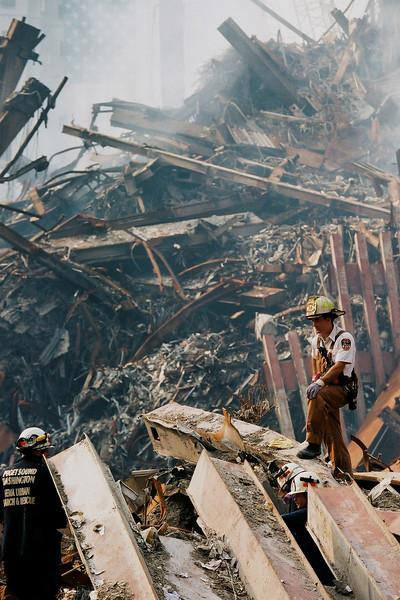 9-21-2001<br /> New York, NY<br /> FDNY ground zero.