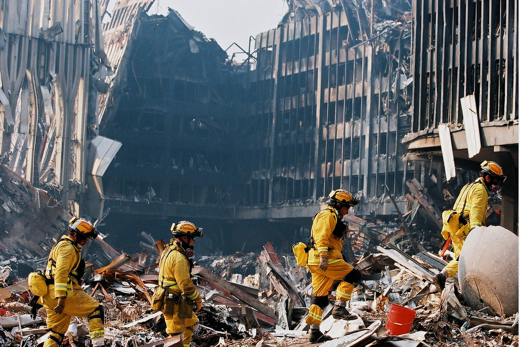 9-21-2001<br /> New York, NY<br /> US&R conduct a search at ground zero.