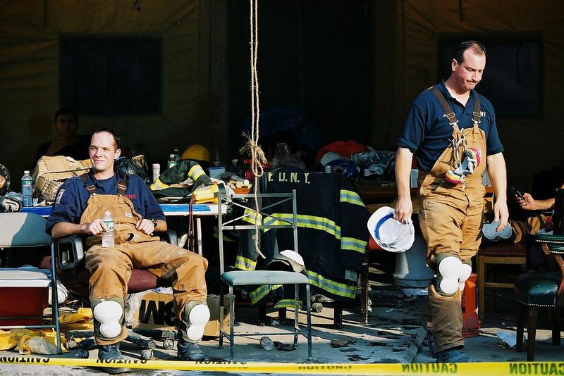 9-21-2001<br /> New York, NY<br /> FDNY at ground zero.