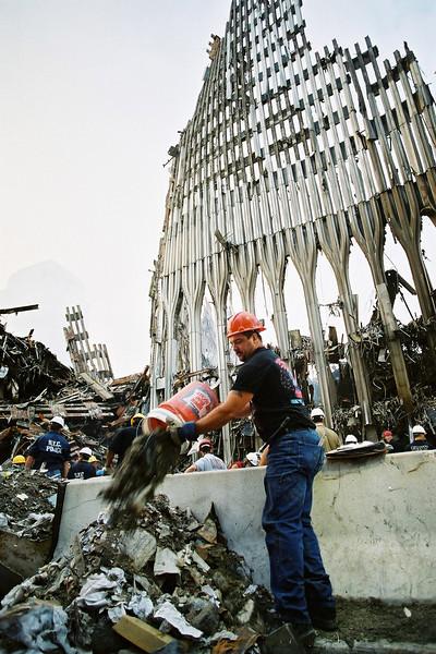 9-21-2001<br /> New York, NY<br /> Ground zero.
