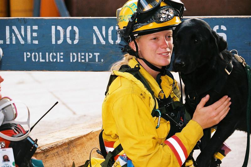 9-21-2001<br /> New York, NY<br /> US&R CA-TF8 ground zero.