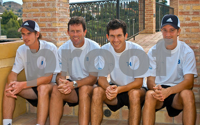 Andy Murray, Jeremy Bates and Tim Henman at La Manga Club, 17th September 2004