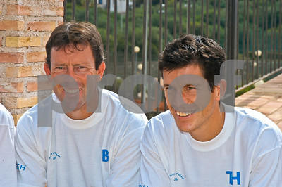 Jeremy Bates and Tim Henman at La Manga Club, 17th September 2004