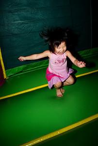 Bouncy girl