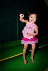 Bouncing girl