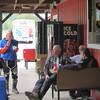 Lunch at Goose Creek Gas, L-R: Jimmy, bikeridermark, bikeneil, Jrockrat