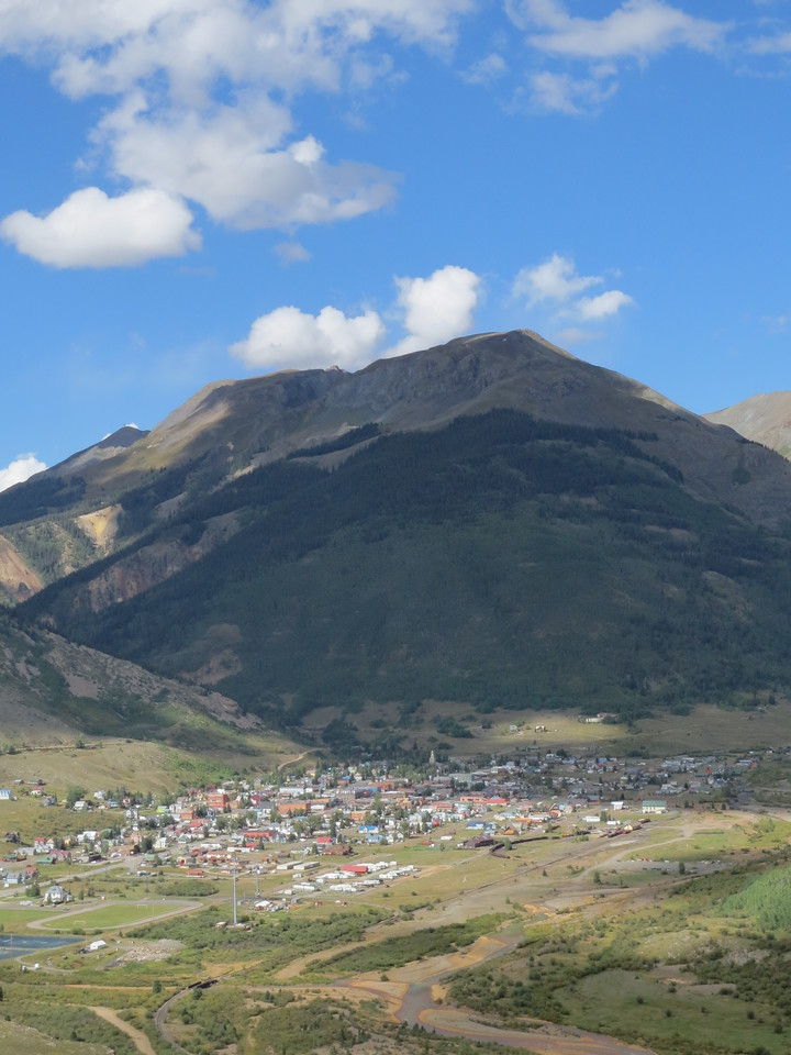 Day 4 (357 miles): Silverton CO, as seen from US 550