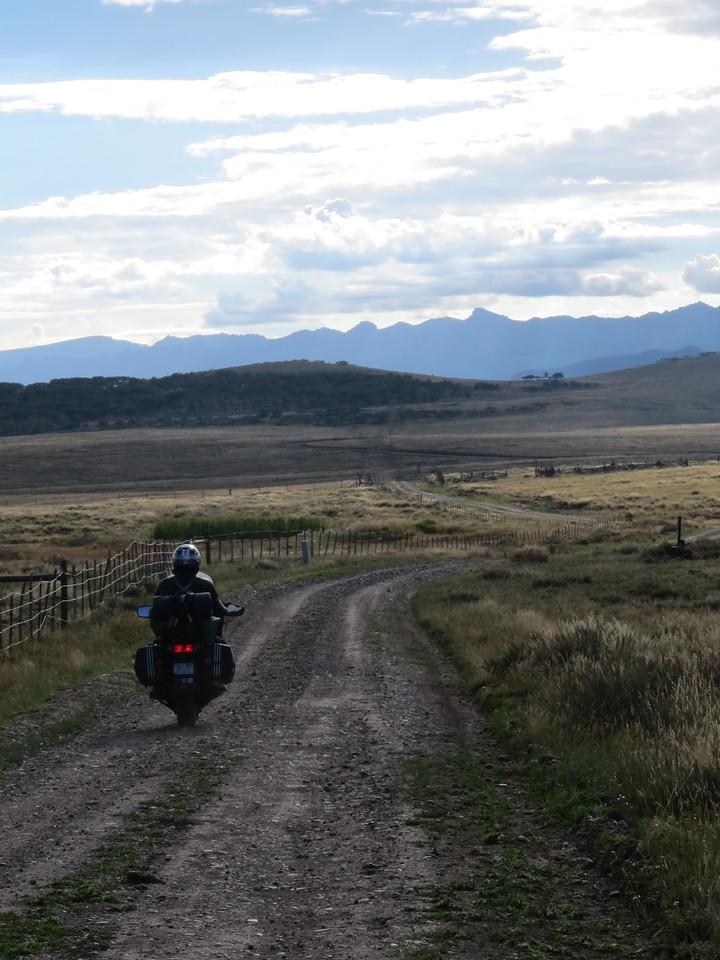 Day 5 (896 miles):  San Juan Ranch Road, near Telluride