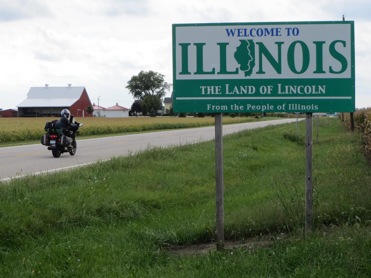 Day 1 (681 miles): Into Illinois.